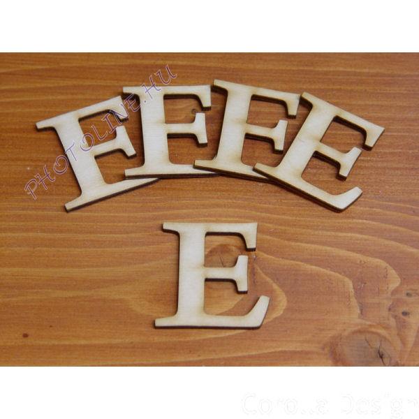 Fa betűk ABC 50 mm, darabra, E betű