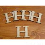 Fa betűk ABC 50 mm, darabra, H betű