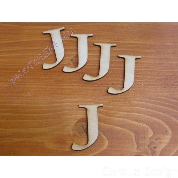 Fa betűk ABC 50 mm, darabra, J betű