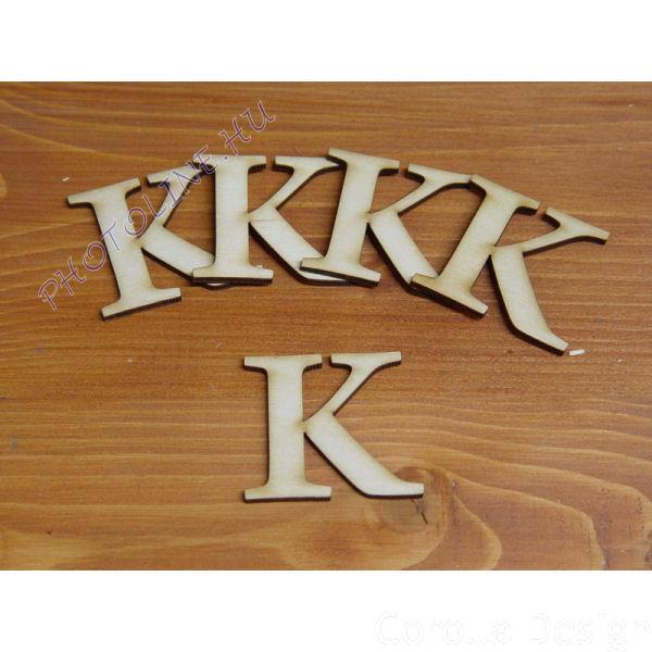 Fa betűk ABC 50 mm, darabra, K betű