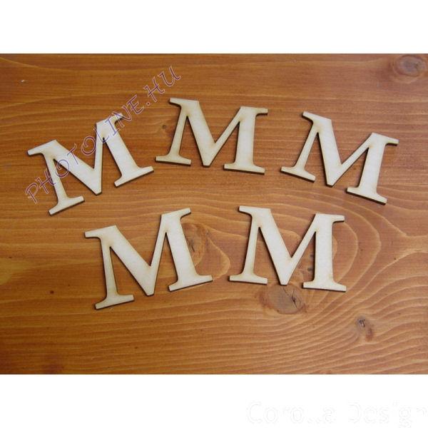 Fa betűk ABC 50 mm, darabra, M betű
