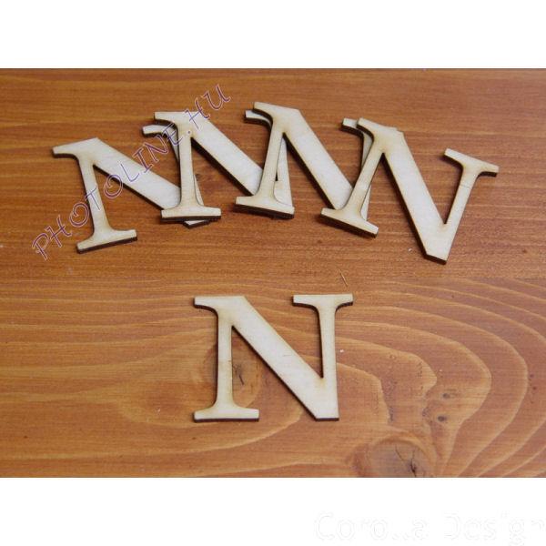 Fa betűk ABC 50 mm, darabra, N betű