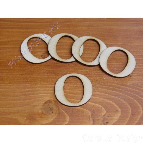Fa betűk ABC 50 mm, darabra, O betű