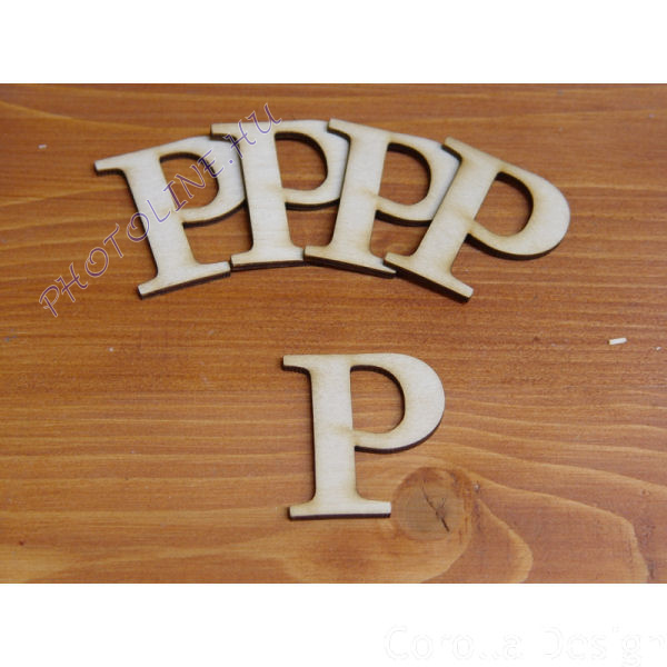 Fa betűk ABC 50 mm, darabra, P betű