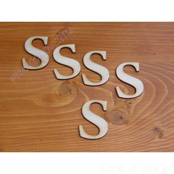 Fa betűk ABC 50 mm, darabra, S betű