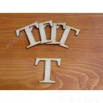 Fa betűk ABC 50 mm, darabra, T betű