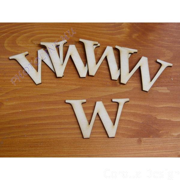 Fa betűk ABC 50 mm, darabra, W betű