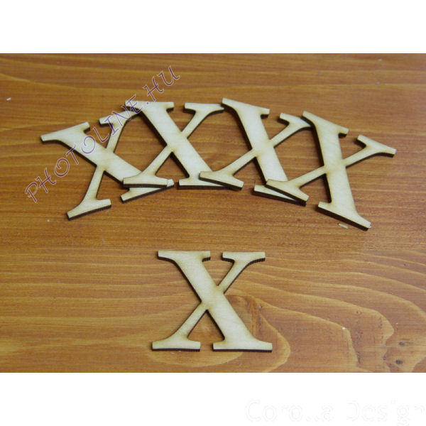 Fa betűk ABC 50 mm, darabra, X betű