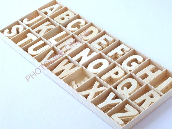 Fa betűk ABC 32 mm, vékony, darabra, ékezet pont (ö) 2 db