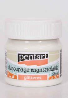 Decoupage ragasztólakk csillogó, glitteres, 50 ML