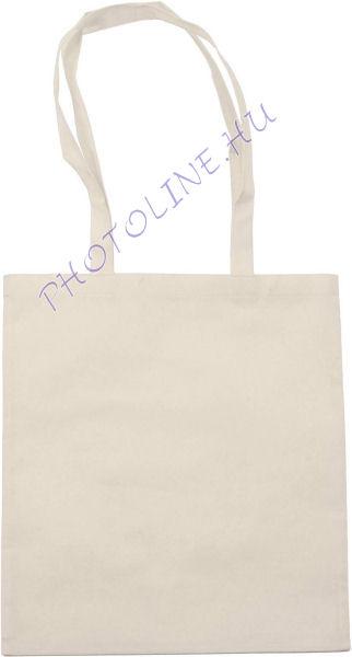 Bevásárló táska 38x42 cm, poliészter szőttes, drapp