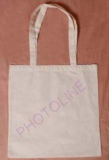 Vászon bevásárló táska hosszúfülű 38x42 cm, világos bézs