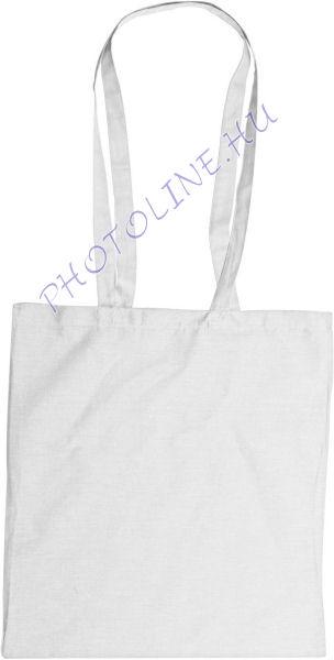 Vászon bevásárló táska 38x42 cm hosszú füllel, FEHÉR