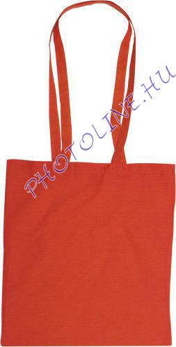 Vászon bevásárló táska 38x42 cm hosszú füllel, PIROS