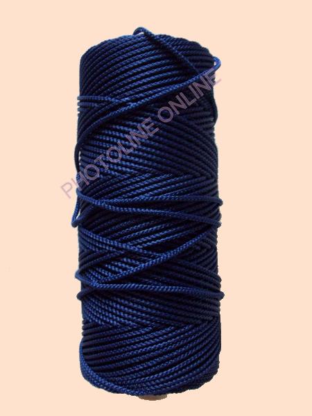 Kötöző zsinór, 3 mm erős, sötétkék szín