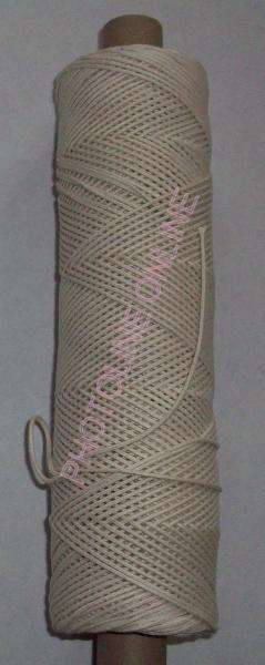 Fonott Zsinór, 1 mm, bézs (gyertyabél)