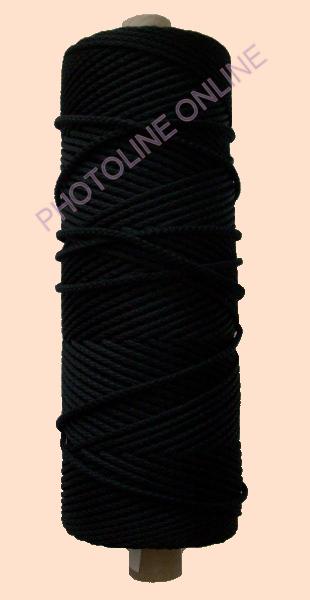 Kötöző zsinór, 3 mm erős, fekete szín