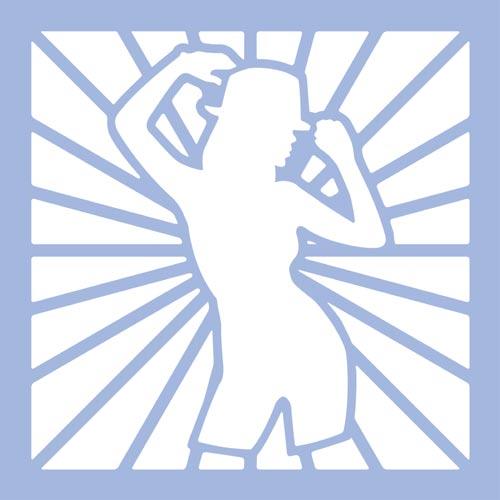 Dekorációs Sablon - airbrush, festéshez - buli, lány, XL
