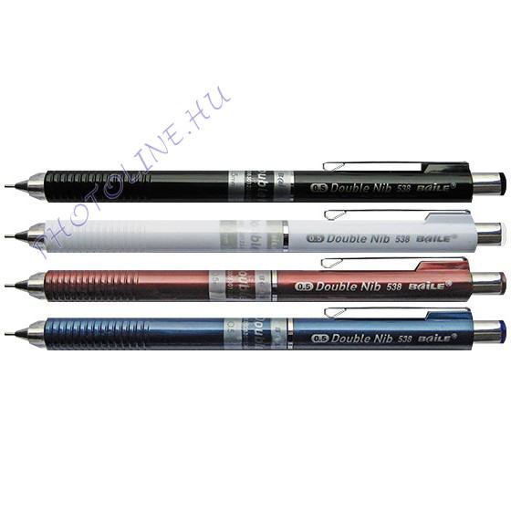 mechanikus ceruza 0,5 mm, mechanikája nyomásra jön elő
