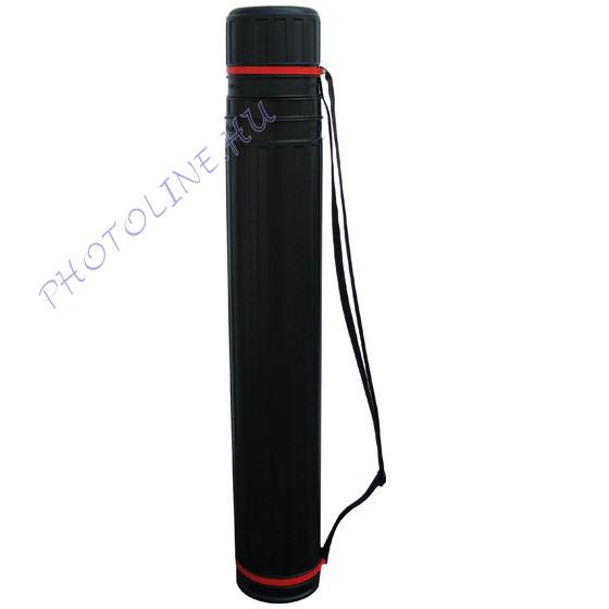 Okmányhenger 8x65-100 cm kihúzható, menetes, fekete