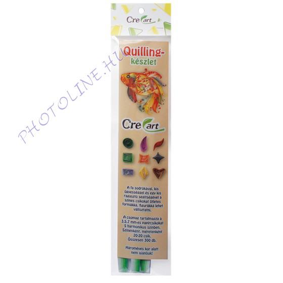 Quillingpapír készlet 300 csík, tavaszi erdő színei