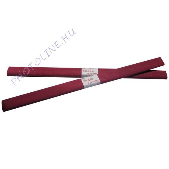 Krepp papír tekercs 50x200 cm, burgundi vörös - 2