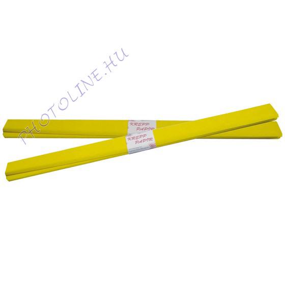 Krepp papír tekercs 50x200 cm, sárga - 30