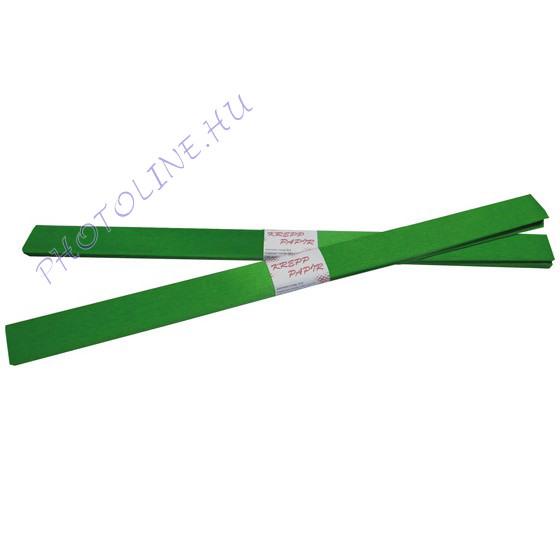 Krepp papír tekercs 50x200 cm, fűzöld - 35