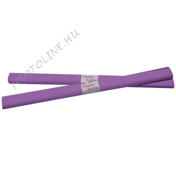 Krepp papír tekercs 50x200 cm, halványlila - 21