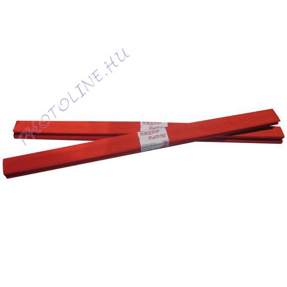 Krepp papír tekercs 50x200 cm, piros - 1
