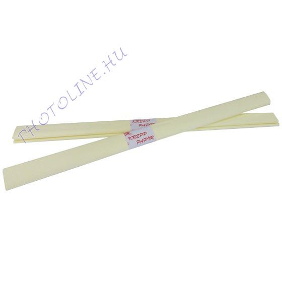 Krepp papír tekercs 50x200 cm, elefántcsont - 03