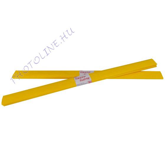 Krepp papír tekercs 50x200 cm, arany sárga - 46