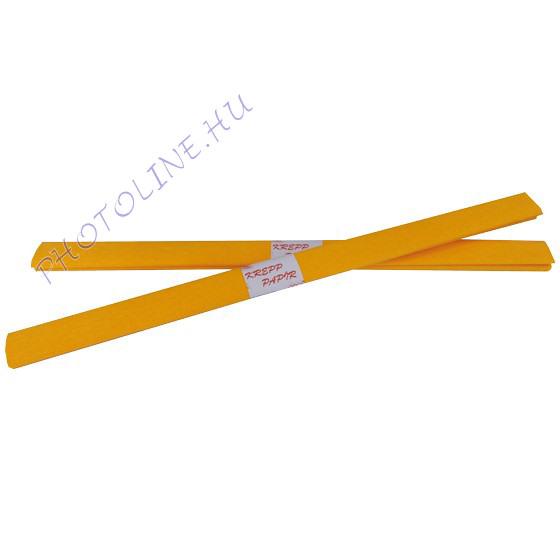 Krepp papír tekercs 50x200 cm, narancssárga - 18