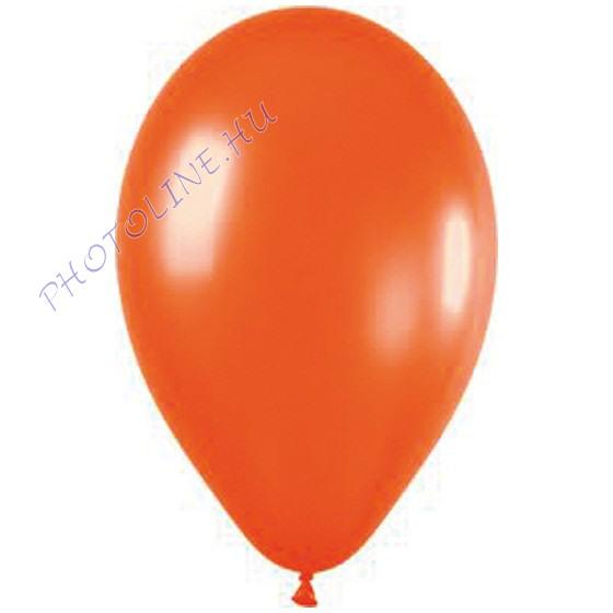 Léggömb - lufi, 25 cm, narancs