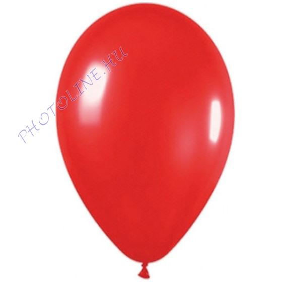 Léggömb - lufi, 25 cm, piros