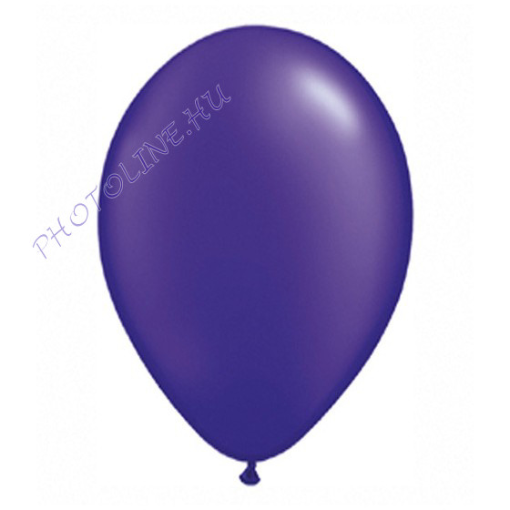 Léggömb - lufi, 25 cm, sötétlila