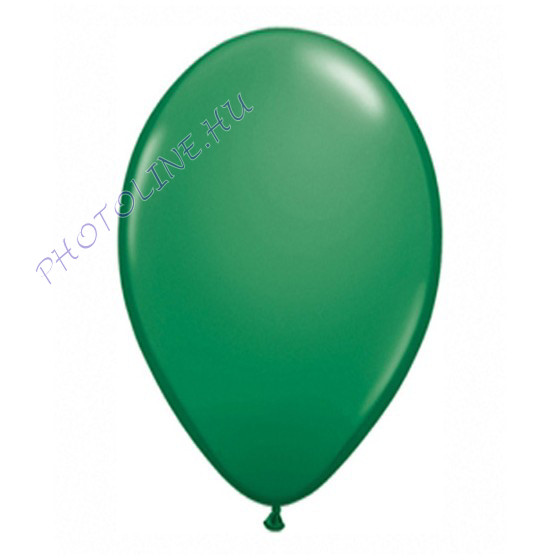 Léggömb - lufi, 25 cm, sötétzöld