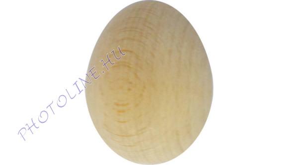 Fa tojás, kemény fából, 6 cm