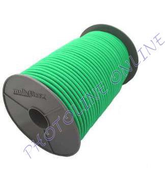 Gumikötél zöld, 8mm átmérő, erősített