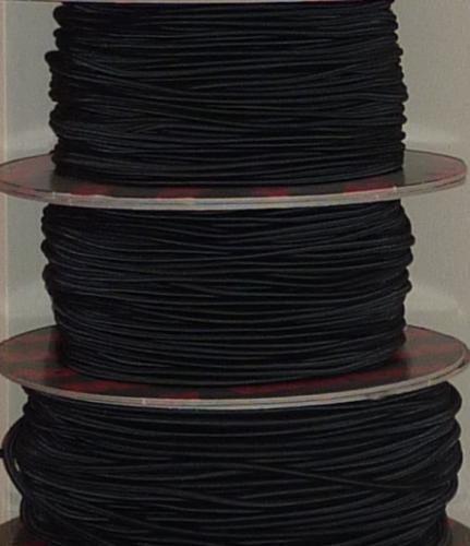 Gumikötél fekete, 5mm átmérő