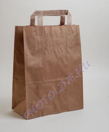 Papír krepptáska, barna 32x12cm, 42cm magas