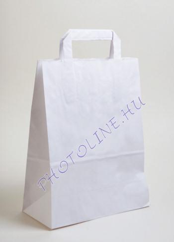 Papír krepptáska, fehér 26x12cm, 35cm magas