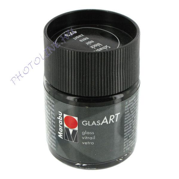 Marabu GlasART oldószeres festék, FEKETE 50ml