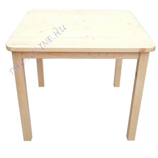 Fa kisasztal, erős természetes fából, 2 - 7 éves korig