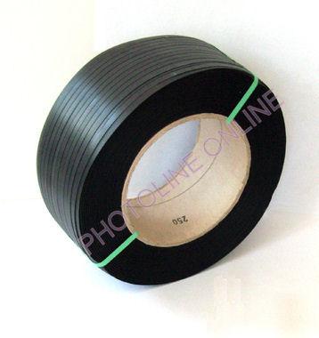 Pántolószalag, PP, 12 mm-es géphez, 2400m, fekete