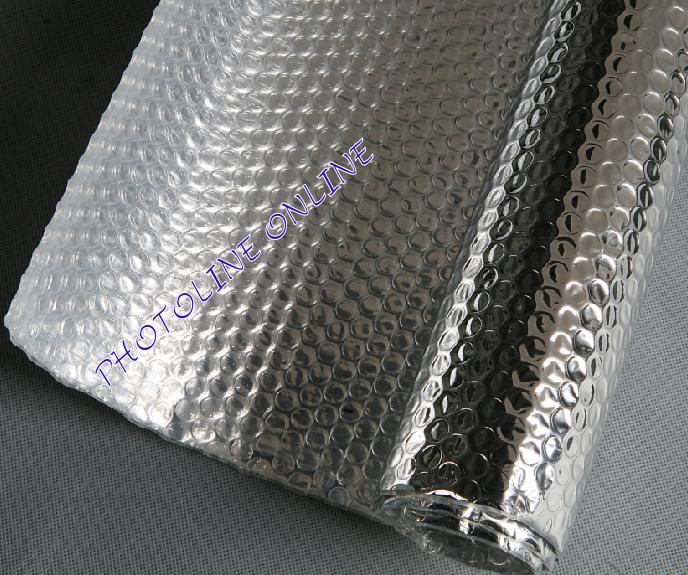 Metalizált PET-el kasírozott légpárnás fólia, 120cm széles, 50 m