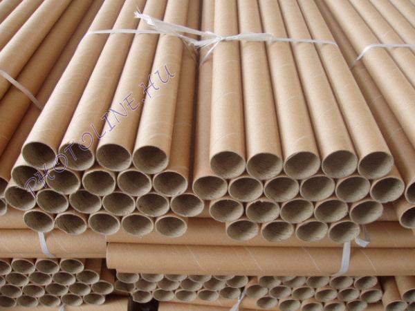 Karton tároló postázó henger L, 54 cm, vékony falú, barna