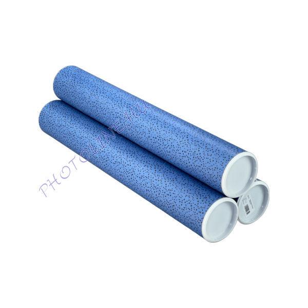 Karton tároló postázó henger L, 70 cm, vékony falú, kék