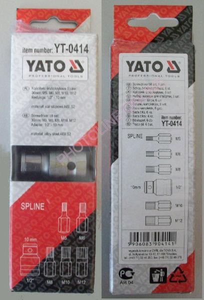 SPLINE Kulcs készlet 6db-os 25mm, M5-M12