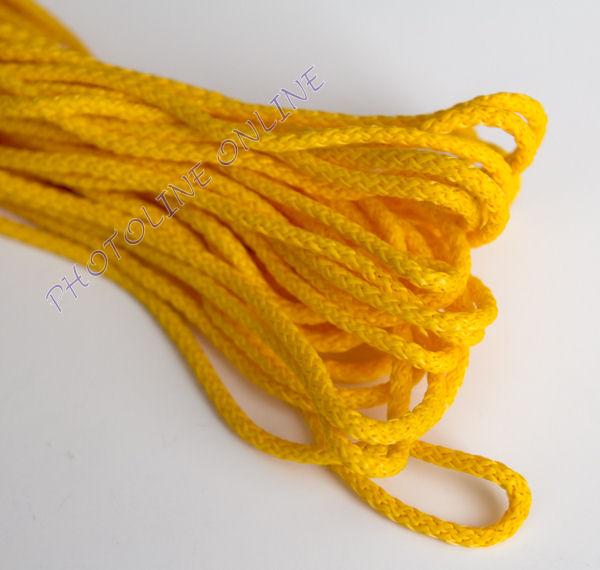 Kötöző zsinór, 4 mm erős, sárga